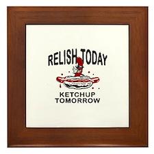 Relish Today Framed Tile