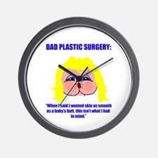 Bad Plastic Surgery Wall Clock