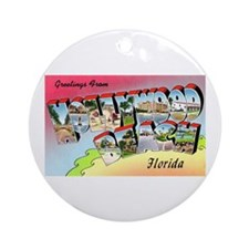 Hollywood Beach Florida Ornament (Round)