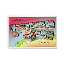 Hollywood Beach Florida Rectangle Magnet