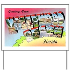 Hollywood Beach Florida Yard Sign