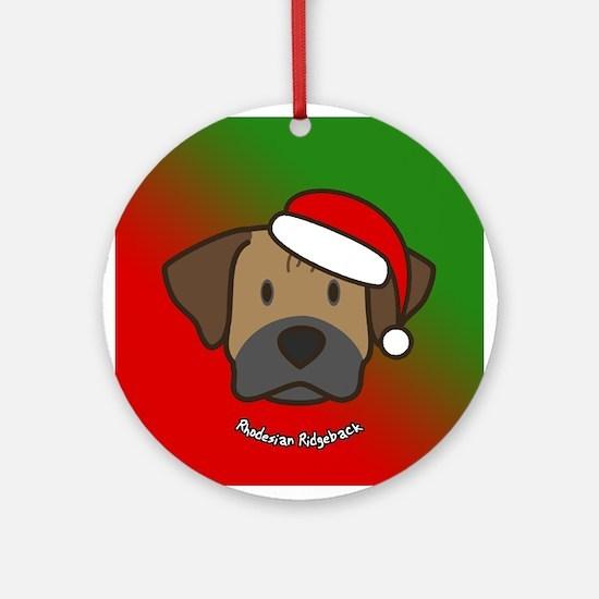 Cartoon Rhodesian Ridgeback Christmas Ornament