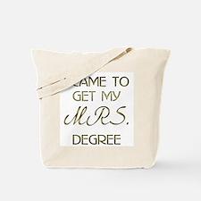 College Mrs. Degree Tote Bag