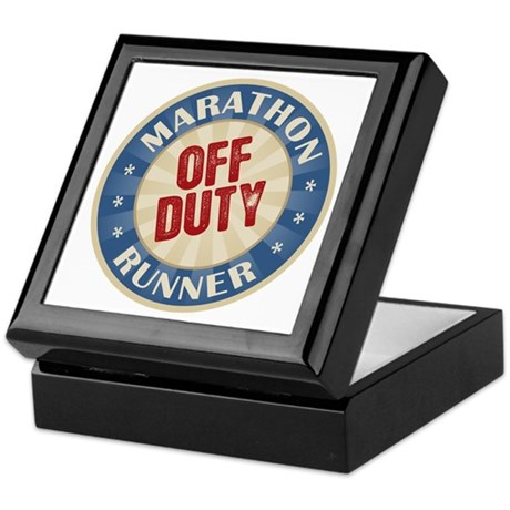 Off Duty Marathon Runner Keepsake Box