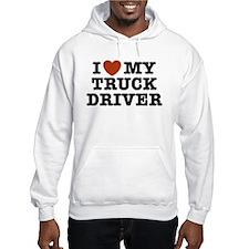 I Love My Truck Driver Hoodie