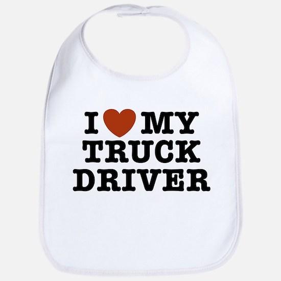 I Love My Truck Driver Bib