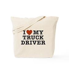 I Love My Truck Driver Tote Bag