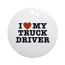 I Love My Truck Driver Ornament (Round)