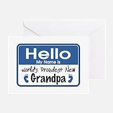 Hello New Grandpa Greeting Card