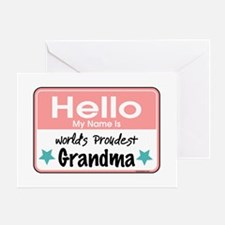 Hello Proud Grandma Greeting Card