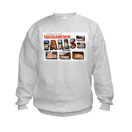 Tahquamenon Falls Michigan (Front) Kids Sweatshirt