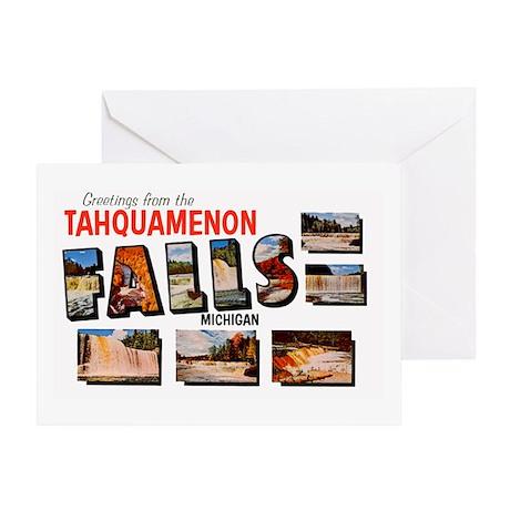 Tahquamenon Falls Michigan Greeting Card