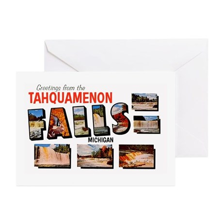 Tahquamenon Falls Michigan Greeting Cards (Pk of 1