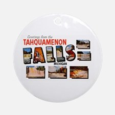 Tahquamenon Falls Michigan Ornament (Round)