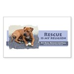 Rescue is my religion Rectangle Sticker 50 pk)
