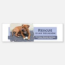Rescue is my religion Bumper Bumper Bumper Sticker