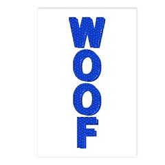 WOOF/BLUE MOSAIC Postcards (Package of 8)