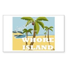 Whore Island Rectangle Decal