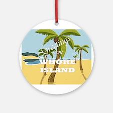 Whore Island Ornament (Round)