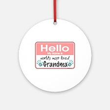 Hello Loved Grandma Ornament (Round)