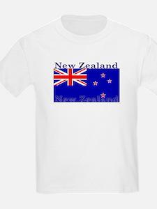 New Zealand Zealander Flag Kids T-Shirt