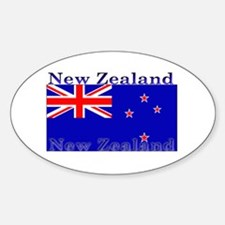 New Zealand Zealander Flag Oval Decal