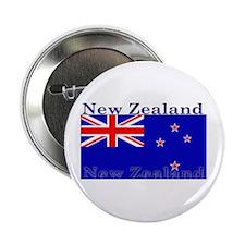 New Zealand Zealander Flag Button