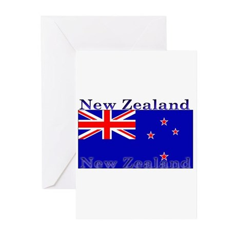 New Zealand Zealander Flag Greeting Cards (Package