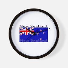 New Zealand Zealander Flag Wall Clock