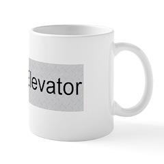 'One Stop Elevator' - Regular Mug (Right Hand)