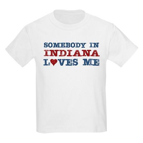 Somebody in Indiana Loves Me Kids Light T-Shirt