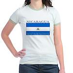 Nicaragua Nicaraguan Flag Jr. Ringer T-Shirt