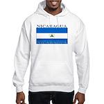 Nicaragua Nicaraguan Flag Hooded Sweatshirt