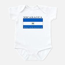 Nicaragua Nicaraguan Flag Infant Creeper