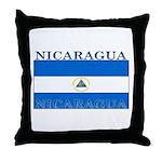 Nicaragua Nicaraguan Flag Throw Pillow