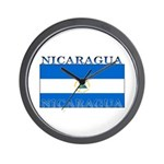 Nicaragua Nicaraguan Flag Wall Clock