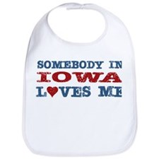 Somebody in Iowa Loves Me Bib