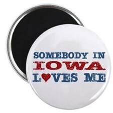 """Somebody in Iowa Loves Me 2.25"""" Magnet (10 pack)"""