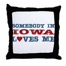 Somebody in Iowa Loves Me Throw Pillow