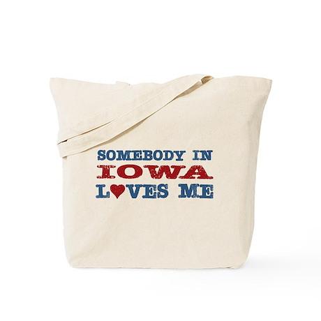 Somebody in Iowa Loves Me Tote Bag
