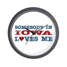 Somebody in Iowa Loves Me Wall Clock