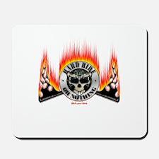 Hard Ride Skull Fire Mousepad