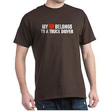 My Heart Belongs to a Truck Driver T-Shirt