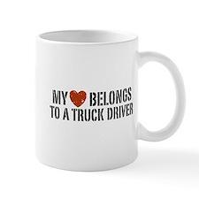 My Heart Belongs to a Truck Driver Mug