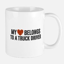 My Heart Belongs to a Truck Driver Mug