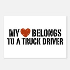 My Heart Belongs to a Truck Driver Postcards (Pack