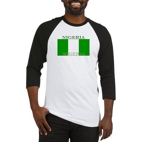 Nigeria Nigerian Flag Baseball Jersey