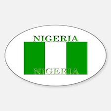 Nigeria Nigerian Flag Oval Decal