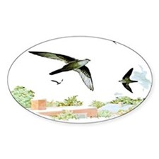 Chimney Swift Oval Decal