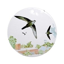 Chimney Swift Ornament (Round)